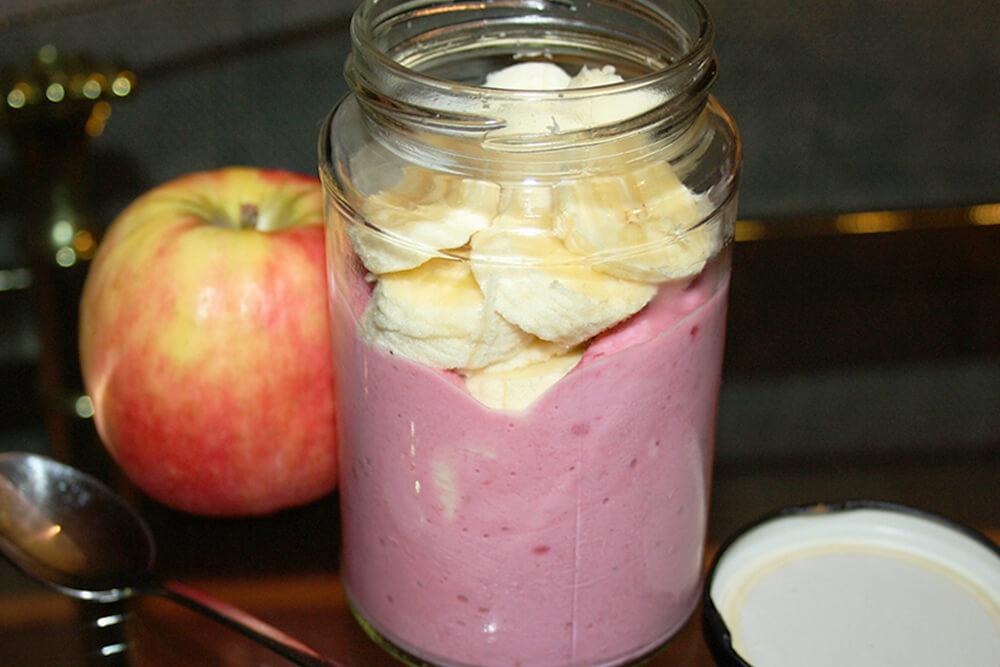 Himbeer-Orangen-Quark als Frühstück für unterwegs
