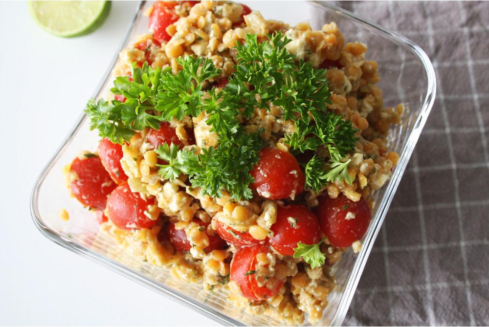 Linsensalat - Sättigender Salat mit viel Eiweiß