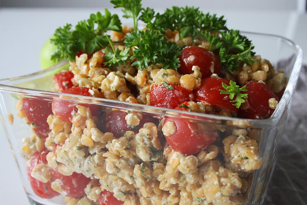 Linsensalat: Gesunder Salat mit pflanzlichem Protein