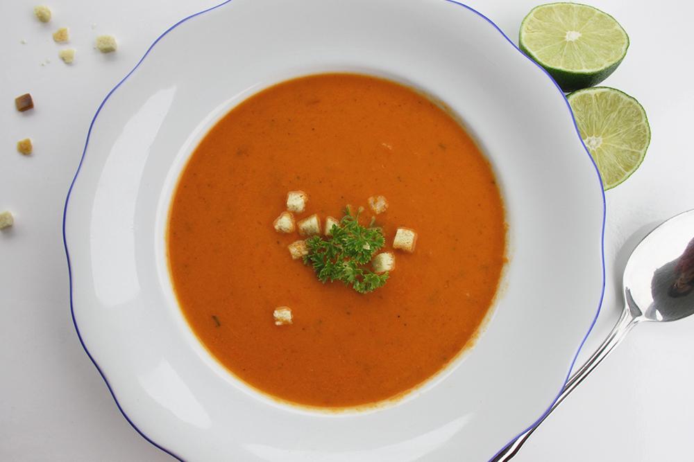 lowcarb Abendessen Paprikacremesuppe